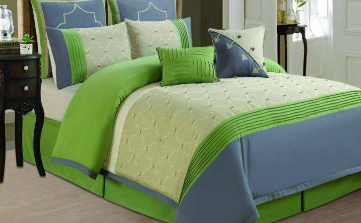 Lime Green Blue Bedding Patchwork Teen
