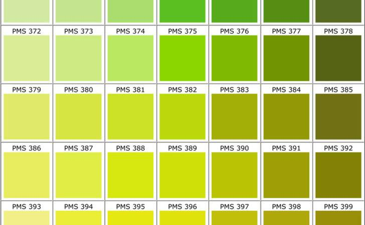 Lime Green Color Chart