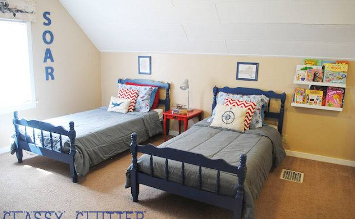 Little Boys Airplane Room Makeover Budget Classy