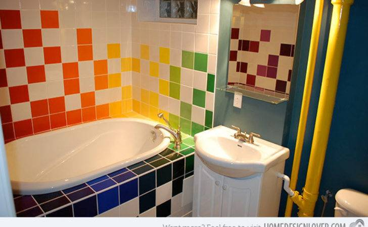 Lively Multi Colored Bathroom Designs Home Design Lover