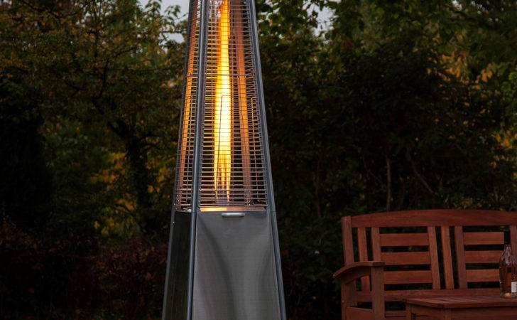Living Flame Patio Heater Stainless Steel