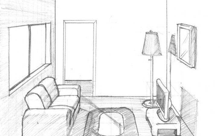 Living Room Drawing Easy Home
