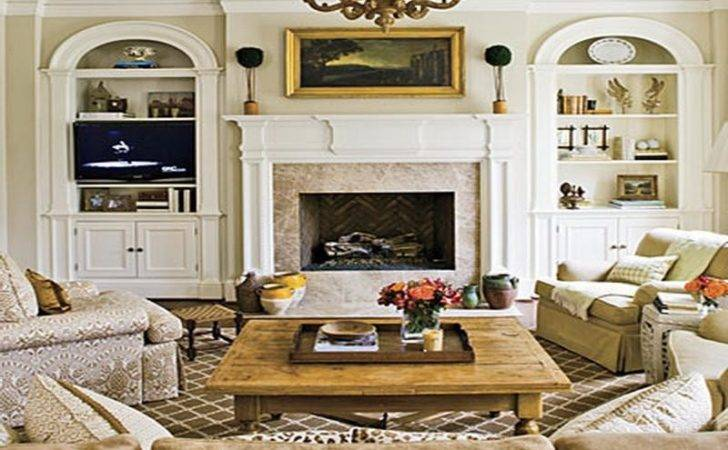 Living Room Fireplace Decorating Ideas