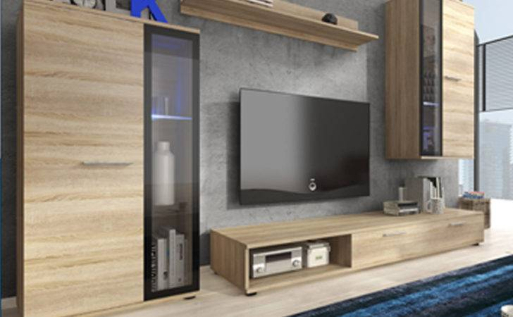 Living Room Furniture Set Unit Display Stand Wall