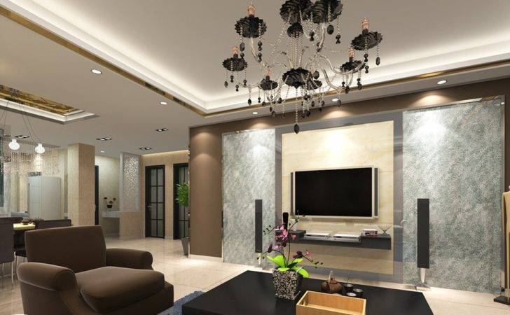 Living Room Interior Design Rendering House