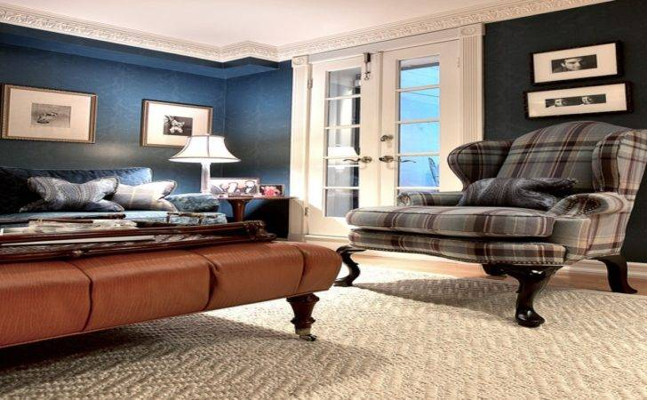 Living Room Ottoman Plaid Chairs Floral