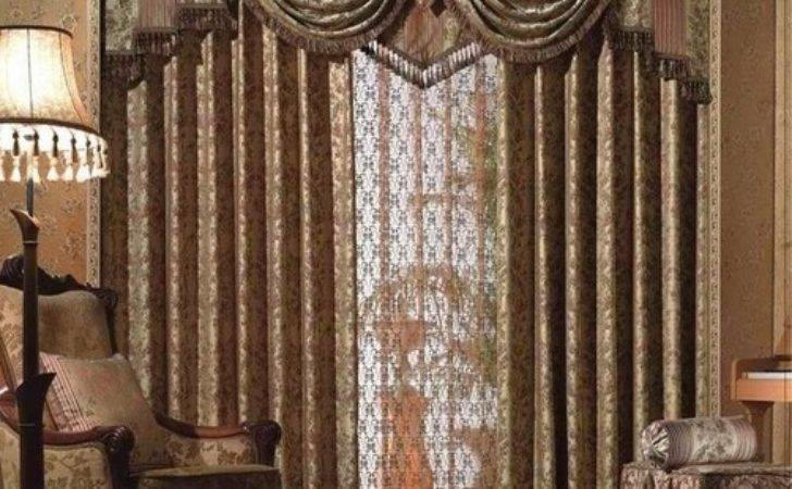 Living Room Outstanding Curtain Designs