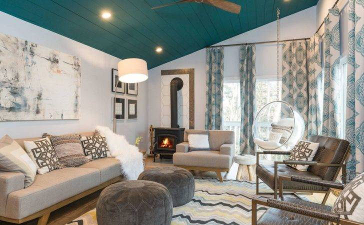 Living Rooms Boast Teal Color