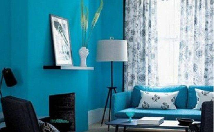 Living Rooms Painted Blue Modern House