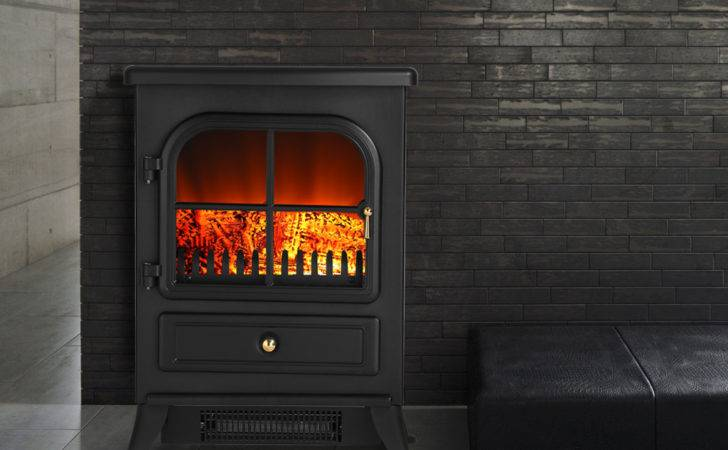 Log Burning Flame Effect Electric Fireplace Stove