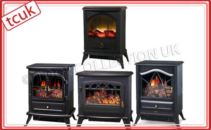 Log Burning Flame Effect Stove Heater Electric Fire