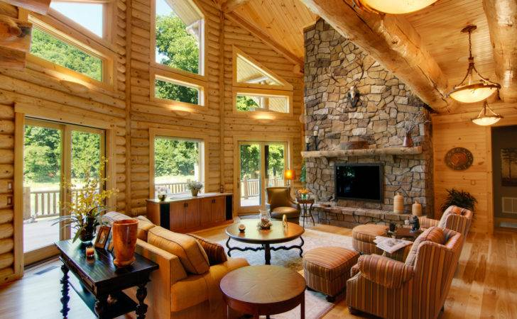 Log Home Interiors Heart Carolina Homes