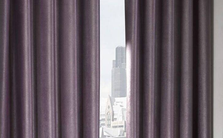 Logan Aubergine Eyelet Ring Top Thermal Blackout Curtains