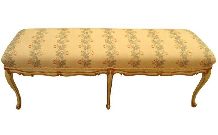 Long French Style Upholstered Bench Sale Stdibs