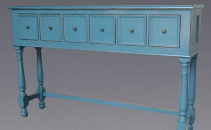Long Tall Antique Table Drawers Chinese Furniture