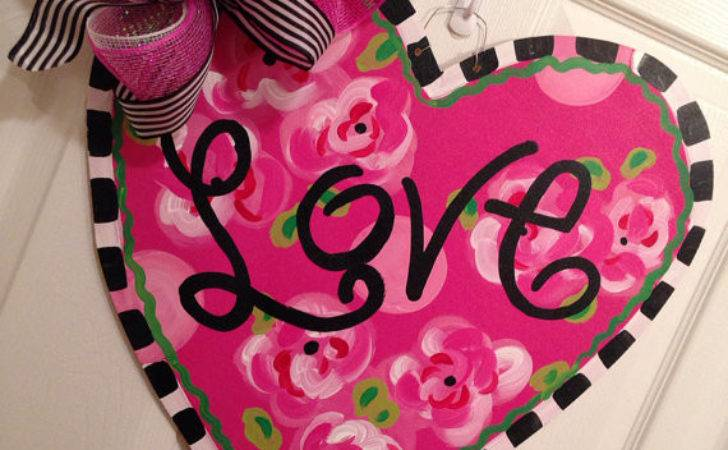 Love Heart Door Hanger Valentines Day Decor Valentine
