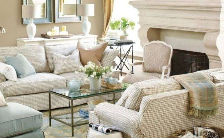 Lovely Plaid Living Room Furniture Including Three Seater