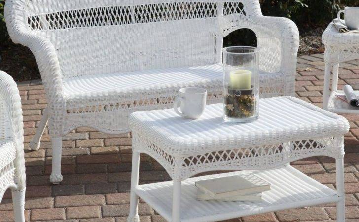 Loveseat Sofa All Weather Wicker Resin Outdoor Patio