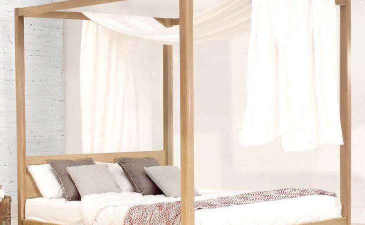 Low Wooden Four Poster Bed Frame Get Laid Beds