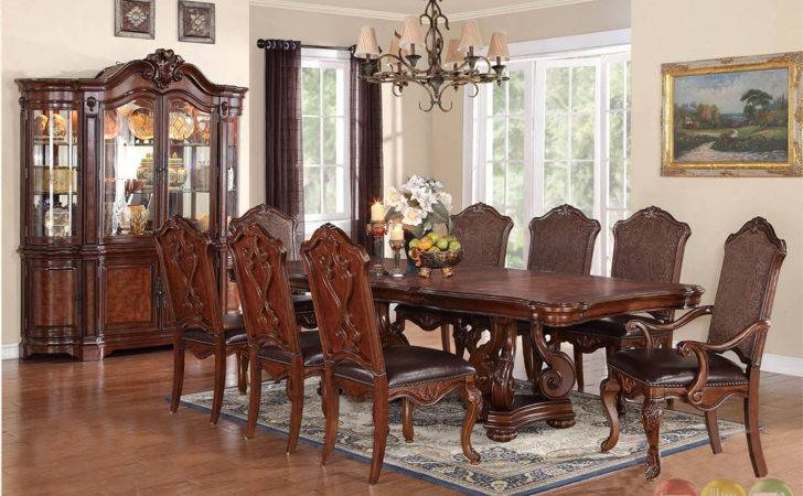 Luciano Traditional Medium Wood Formal Dining Set Rpcmo