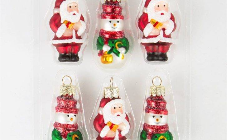 Luxury Glass Christmas Decorations Tree Baubles Box Sets