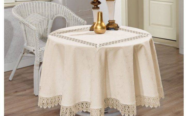 Luxury Lace Round Tablecloth