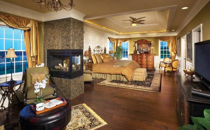 Luxury Master Bedrooms Fireplaces Designing Idea