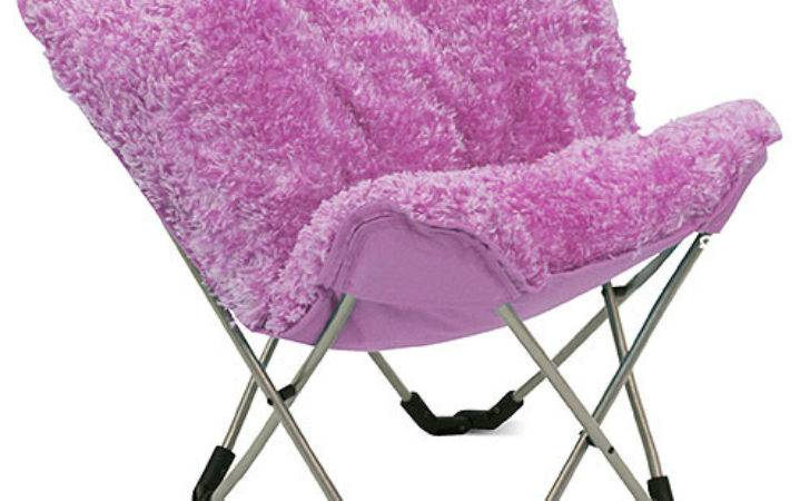 Mac Home Junior Padded Butterfly Chair Pink Poodle