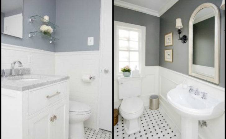 Macarons Pearls Inspired White Grey Bathroom