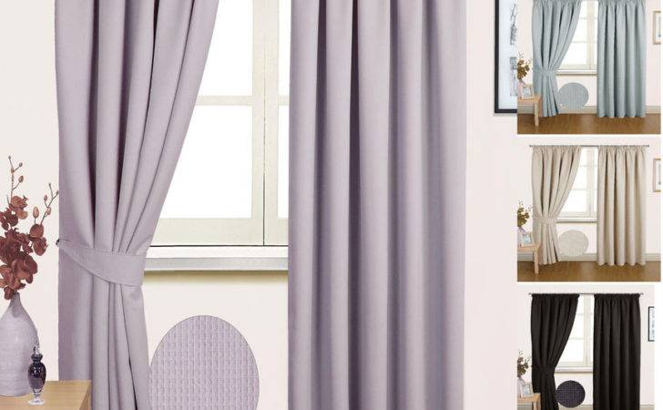 Madrid Pair Semi Blackout Ready Made Thermal Curtains