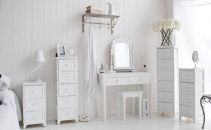 Maine White Bedside Table New England Bedroom Furniture