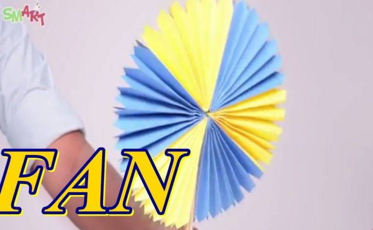 Make Colourful Paper Fan Diy Art Craft Videos