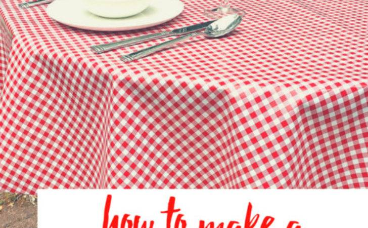 Make Easy Sew Tablecloth Stitching