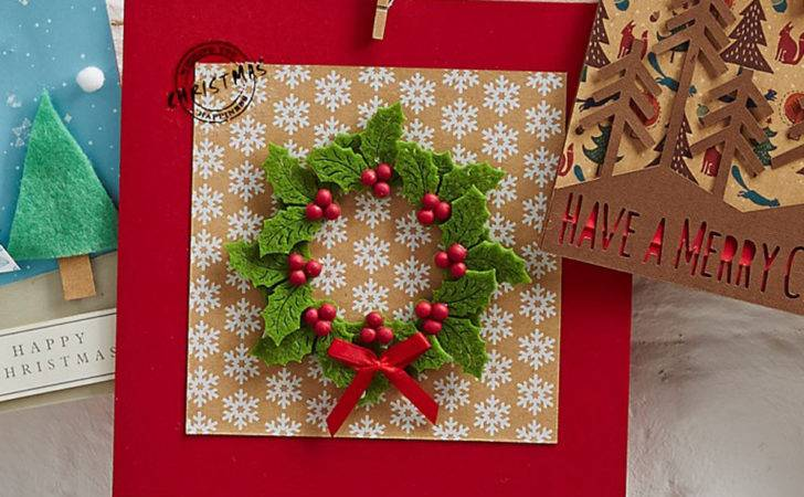 Make Felt Holly Christmas Card Hobbycraft Blog