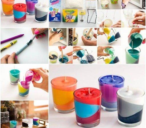 Make Multi Color Candle Step Diy Tutorial
