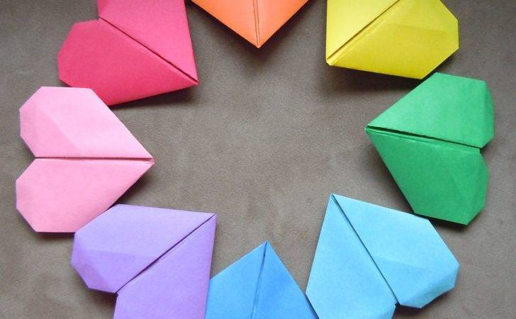 Make Origami Paper Heart Just Five Minutes