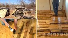 Make Pallet Wood Flooring Diy Crafts Handimania