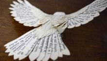 Make Paper Wood Birds Hand Cutting Every Feather