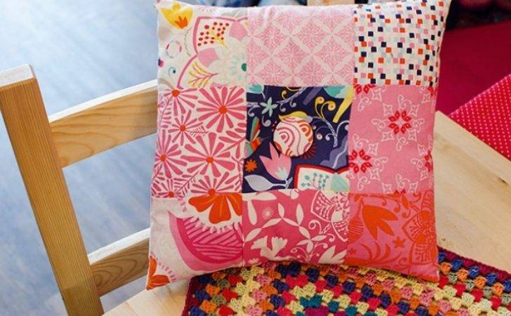 Make Patchwork Cushion Cover Goodtoknow