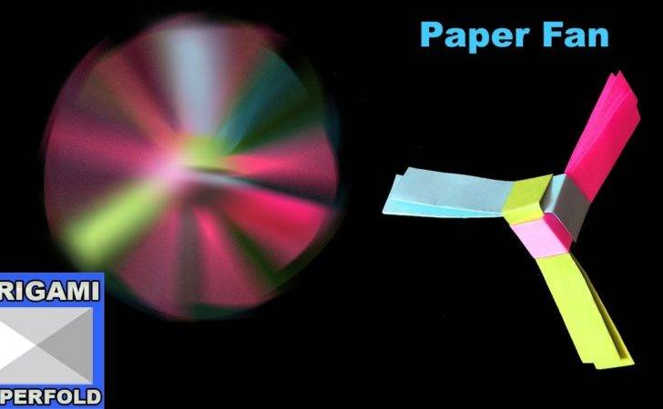 Make Rotating Paper Fan Origami Kids
