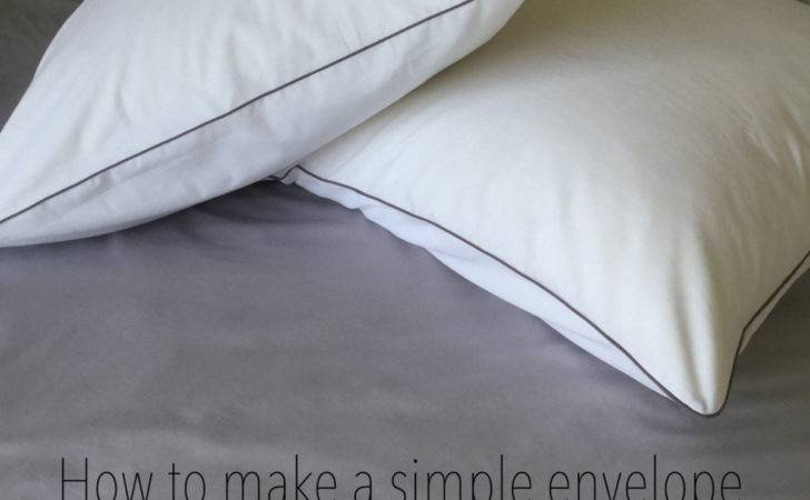 Make Simple Envelope Cushion Covers Piping