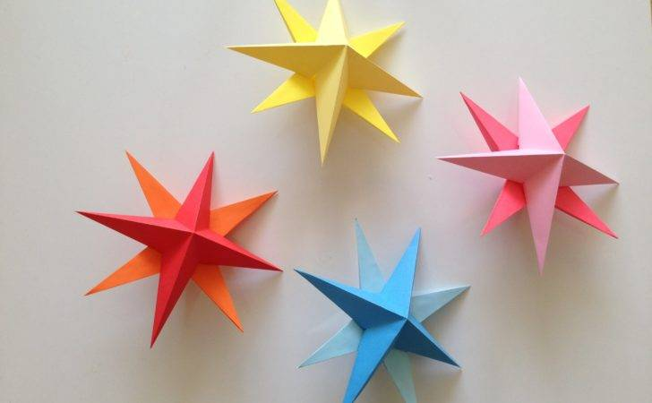 Make Simple Origami Paper Stars Youtube