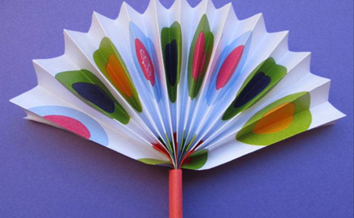 Make Simple Paper Fan Children Crafts