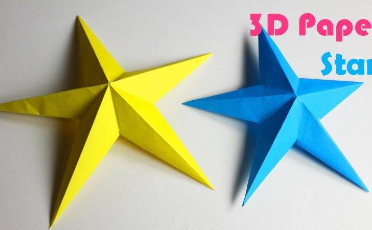 Make Simple Paper Stars Diy Crafts Youtube