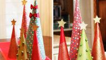 Make Wrapping Paper Christmas Tree Decorations