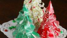 Make Wrapping Paper Christmas Trees