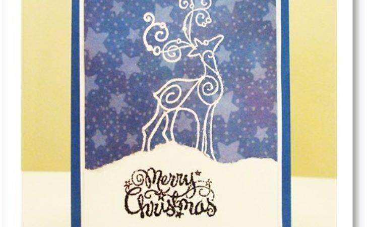 Make Your Own Christmas Cards Embossed Reindeer