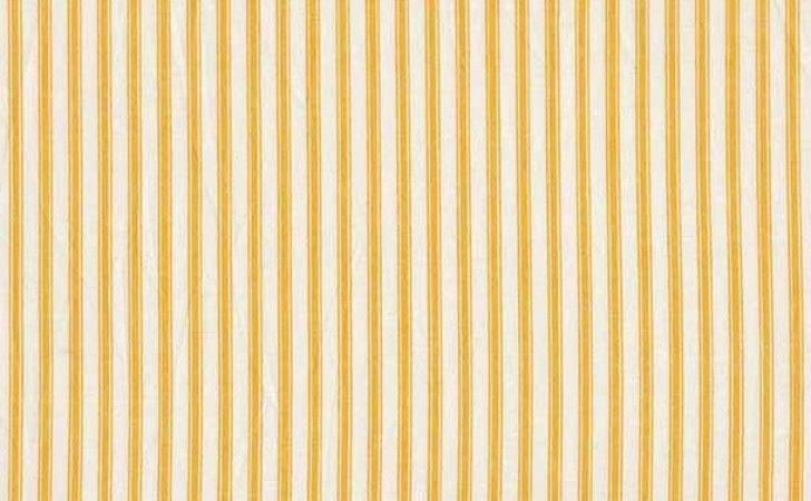 Makower Basics Ticking Stripe Yellow Cotton Fabric