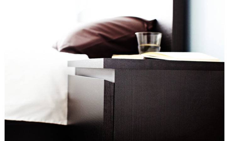 Malm Chest Drawers Black Brown Ikea