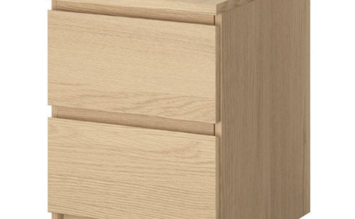Malm Chest Drawers White Stained Oak Veneer